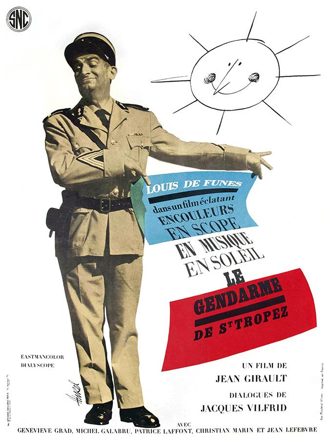 Le Gendarme de Saint-Tropez (Jean Girault, 1964) - Illustrateur : Clément Hurel