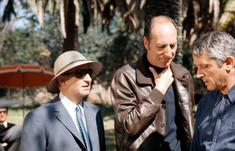 Louis de Funès et Jean Girault sur le tournage du Gendarme en balade (1970) - DR