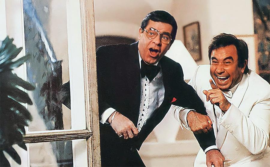 Jerry Lewis et Philippe Clair dans Par où t'es rentré… on t'a pas vu sortir (1984) - DR
