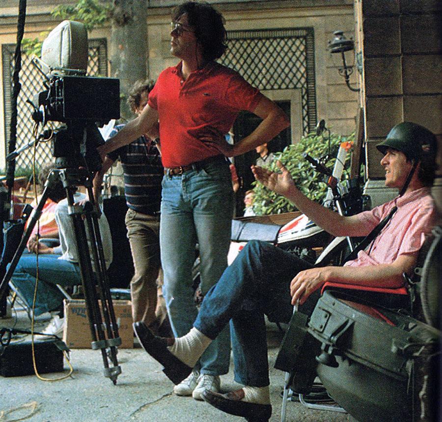 Jean-Marie Poiré sur le tournage de Papy fait de la résistance