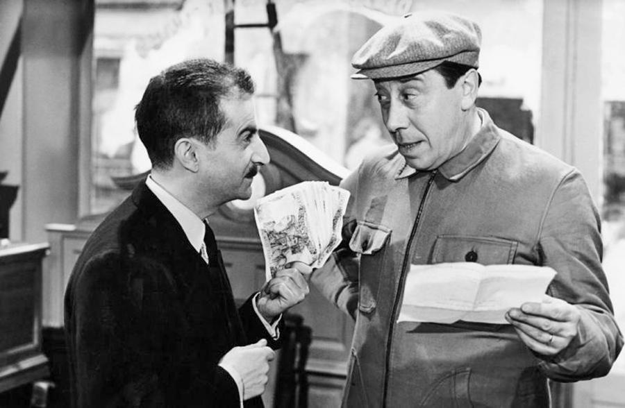 Fernandel et Louis de Funès dans Le Mouton à cinq pattes (Henri Verneuil, 1954) - DR