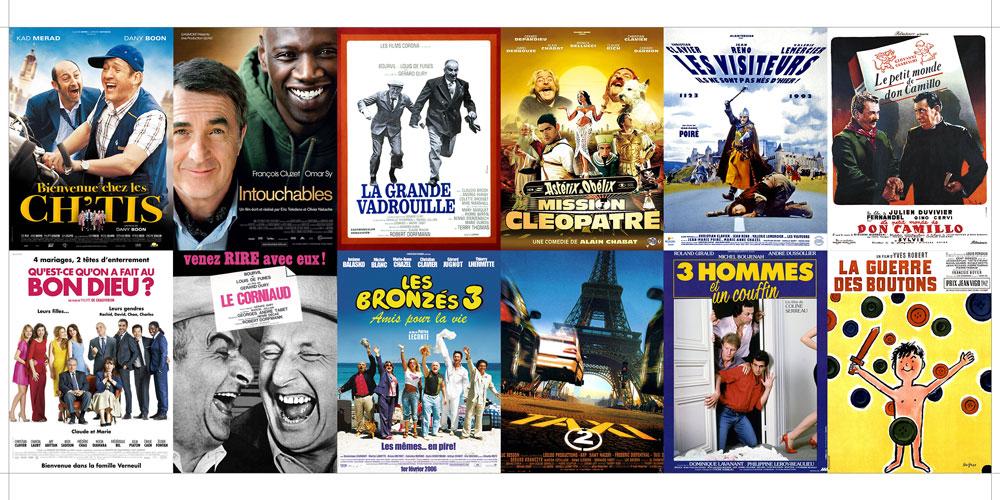 Les 12 premières comédies au Box-Office français