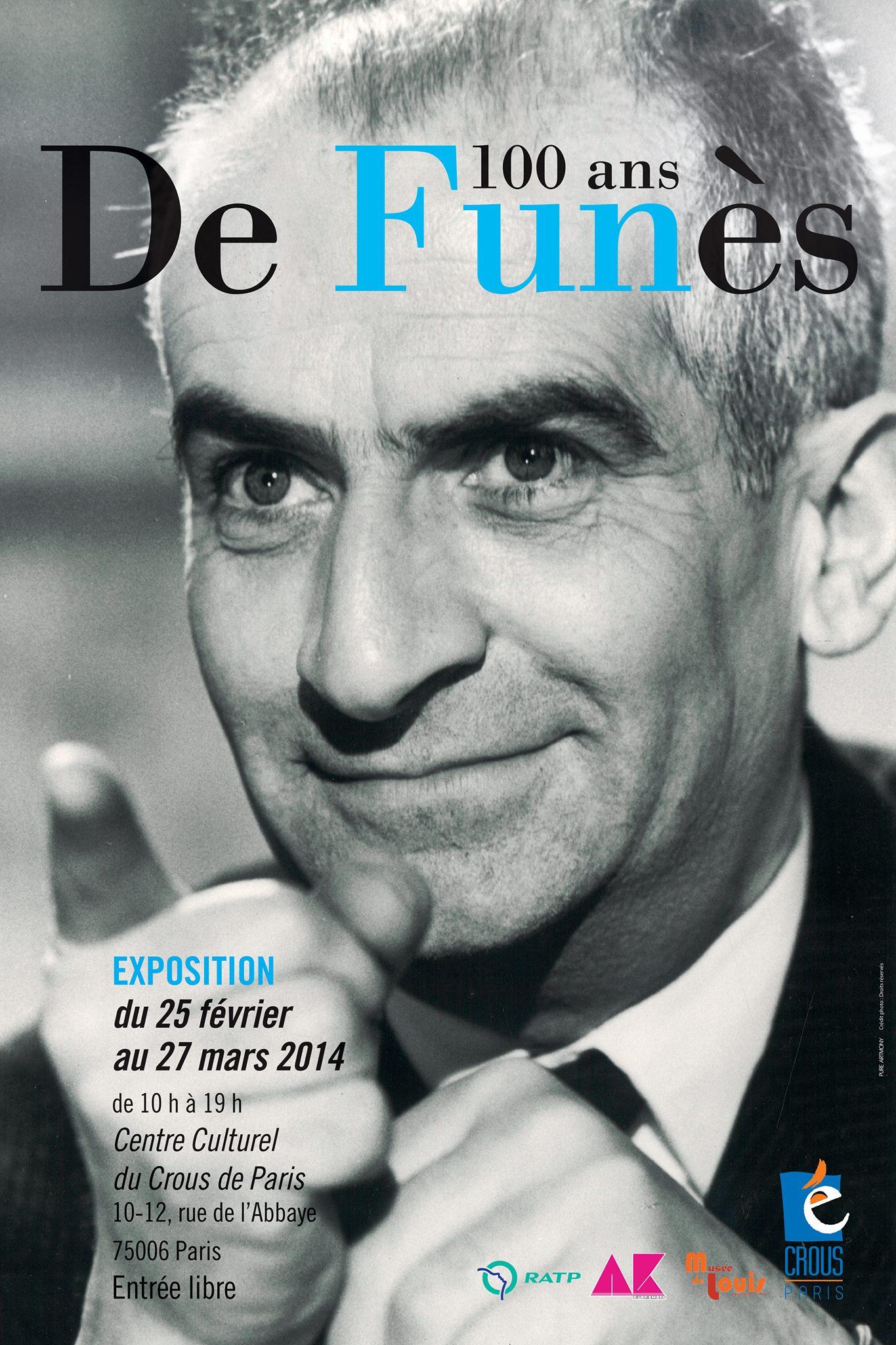 Exposition Louis de Funès du 25 février au 27 mars 2014 au Centre culturel du CROUS de Paris