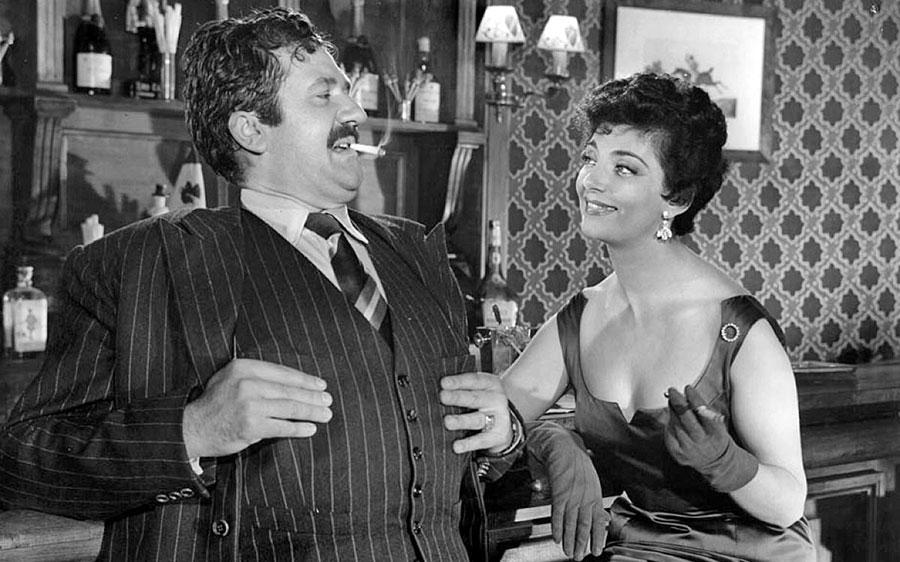 Jean Richard et Micheline Dax dans Courte-tête (Norbert Carbonnaux, 1955)
