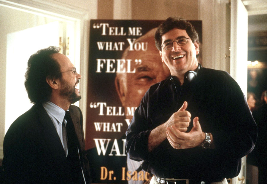 Billy Crystal et Harold Ramis sur le tournage de Mafia blues (Analyze This, 1999)