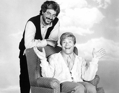 Harold Ramis et Al Franken sur le tournage de Stuart sauve sa famille (Stuart Saves His Family, 1995)