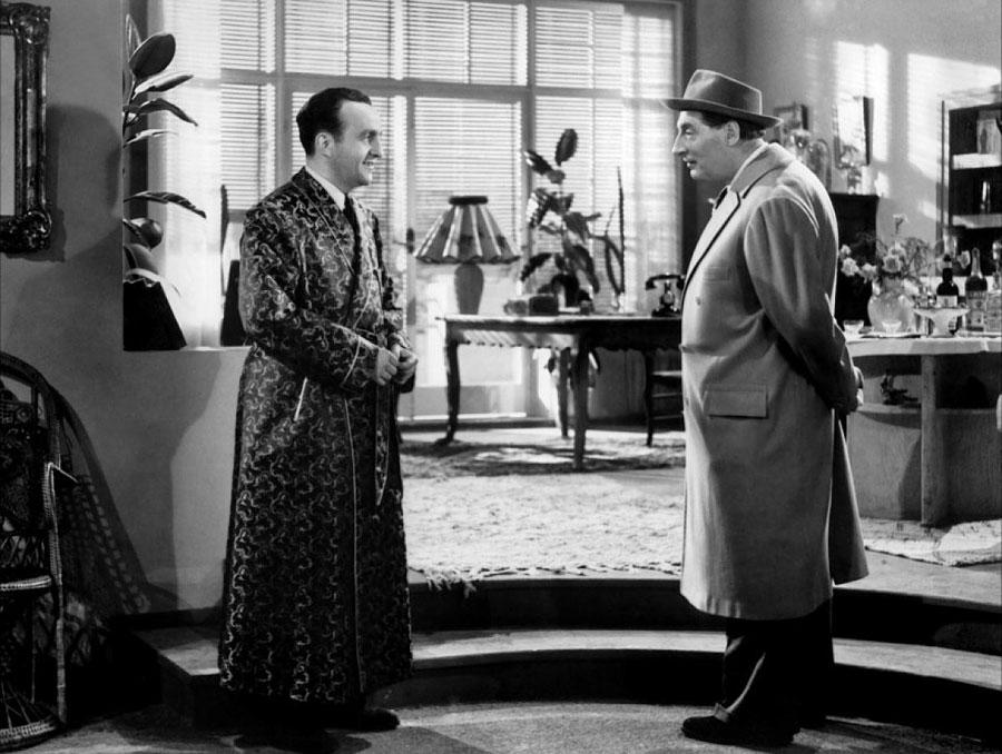 Bernard Blier et Jean Tissier dans Les Casse-pieds (Jean Dréville, 1948)