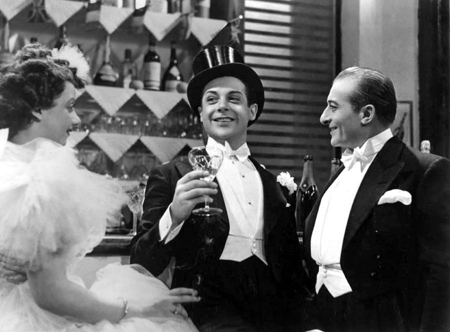 Suzy Vernon, Fernand Gravey et Jules Berry dans Touche à tout (Jean Dréville, 1935)