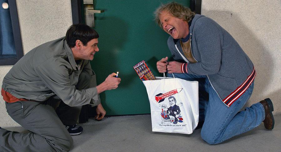 Jim Carrey et Jeff Daniels dans Dumb and Dumber To (Peter & Bobby Farrelly, 2014)