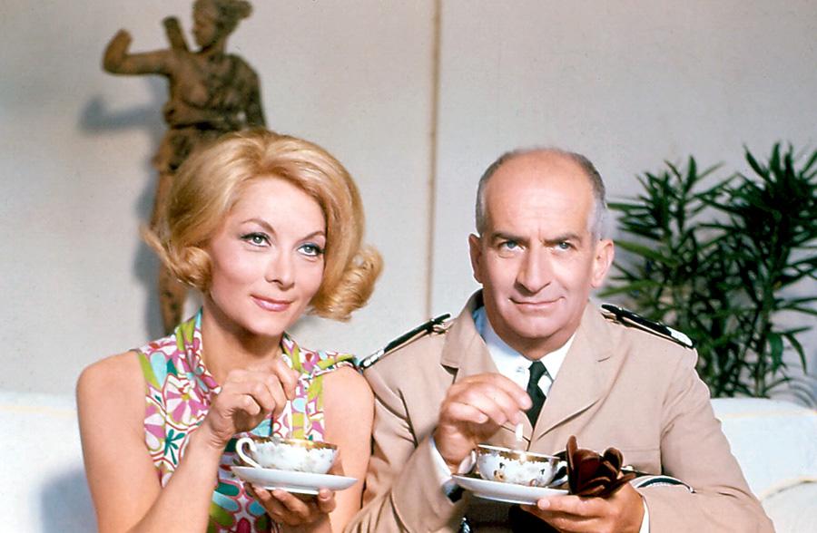Claude Gensac et Louis de Funès dans Le Gendarme se marie (Jean Girault, 1968)