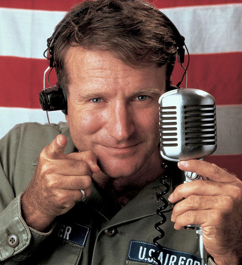 Robin Williams dans Good Morning, Vietnam (Barry Levinson, 1987)
