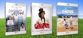 Haute Définition pour Pierre Richard avec 3 classiques de la comédie à la française en Blu-ray : Les Malheurs d'Alfred, La Chèvre et La Carapate.