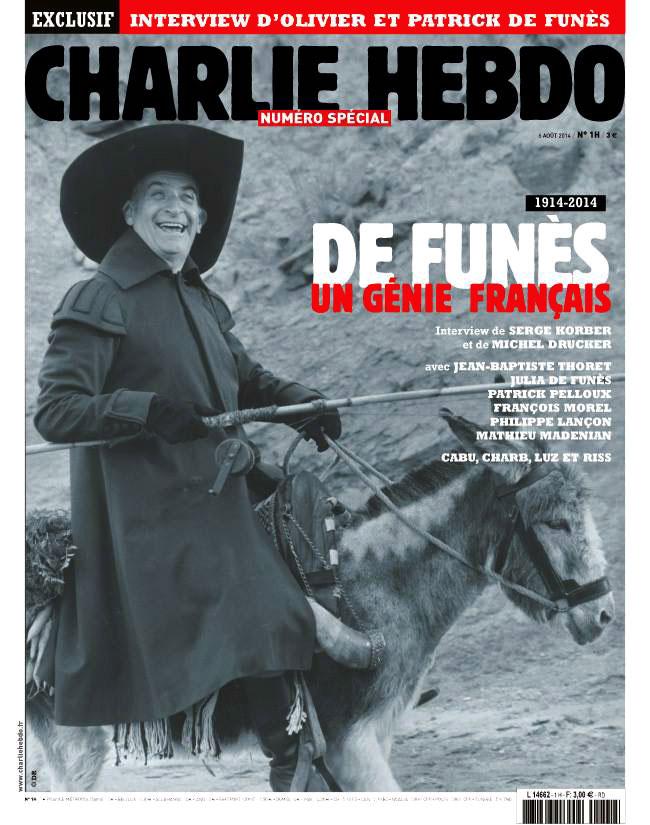 Charlie Hebdo - numéro spécial Louis de Funès (6/08/2014)