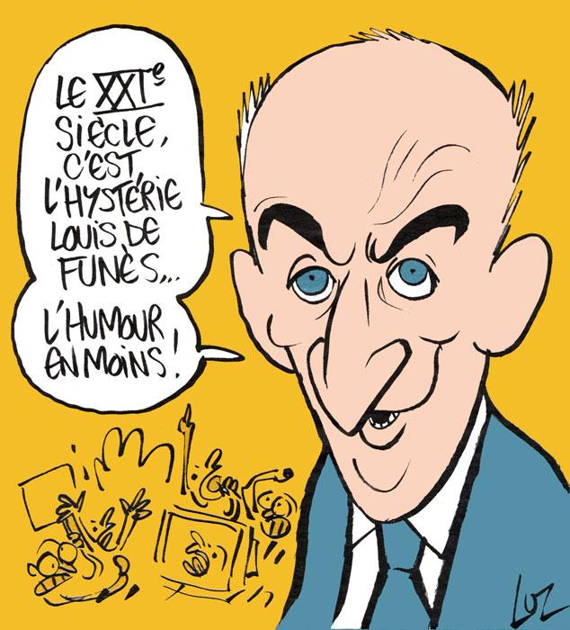 Charlie Hebdo N° spécial Louis de Funès - dessin de Luz ©