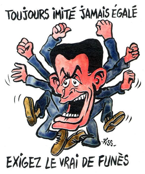 Charlie Hebdo N° spécial Louis de Funès - dessin de Riss ©