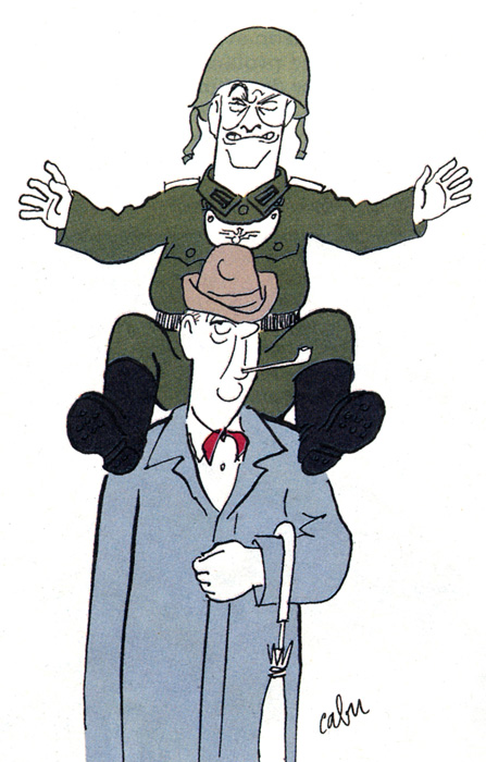 Charlie Hebdo N° spécial Louis de Funès - dessin de Cabu ©