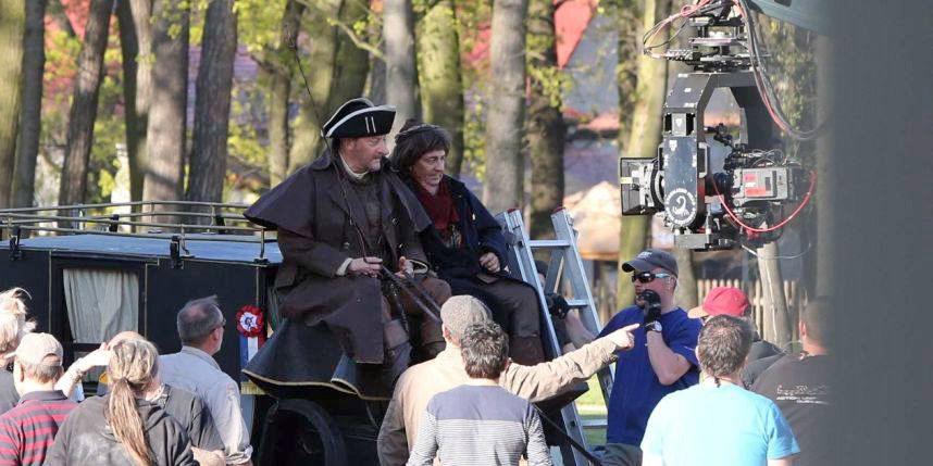 Christian Clavier et Jean Reno sur le tournage des Visiteurs 3 - © Sipa