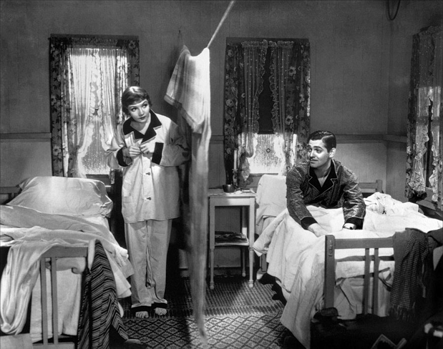 Claudette Colbert et Clark Gable dans New-York Miami (Frank Capra, 1934)