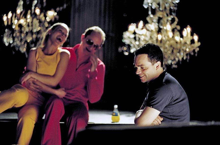 Benoît Poelvoorde et Yann Moix sur le tournage de Podium (Yann Moix, 2003) - © Mars Distribution