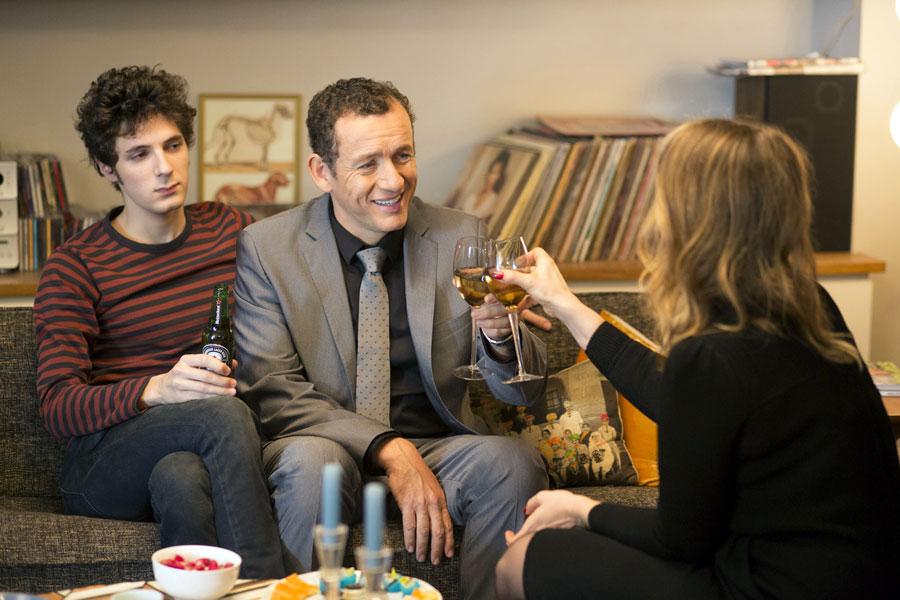 Vincent Lacoste, Dany Boon et Julie Delpy dans Lolo (Julie Delpy, 2015)