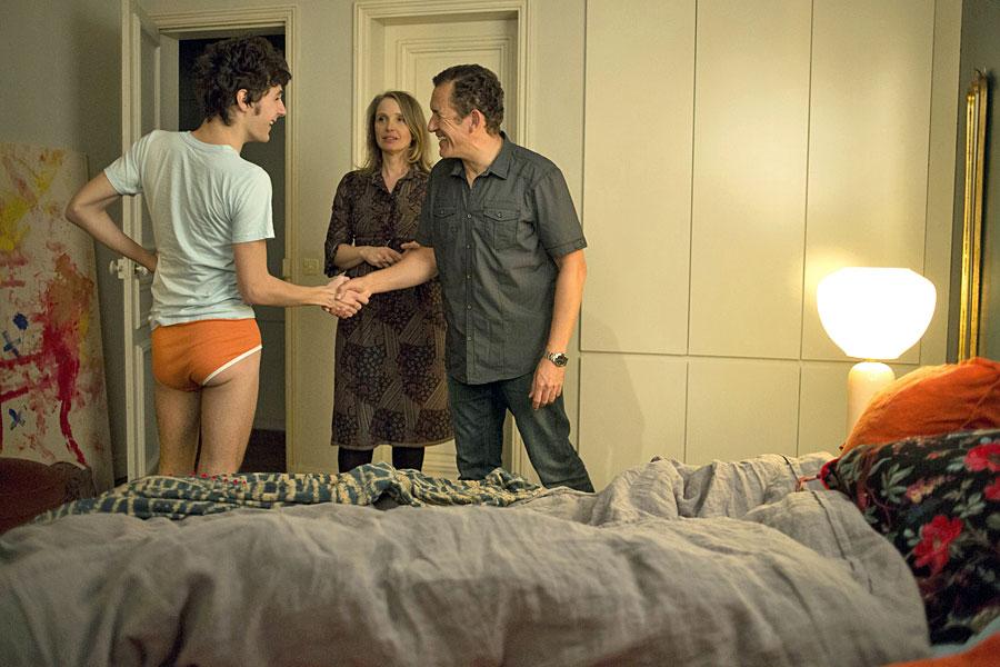 Vincent Lacoste, Julie Delpy et Dany Boon dans Lolo (Julie Delpy, 2015)