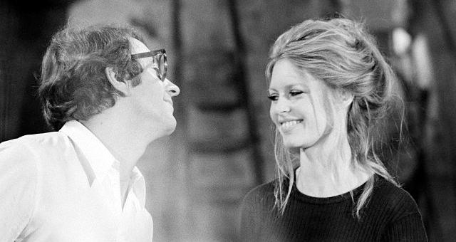 Jean-Pierre Cassel et Brigitte Bardot sur le tournage de L'Ours et la poupée (Michel Deville, 1969) - © Alain Loison