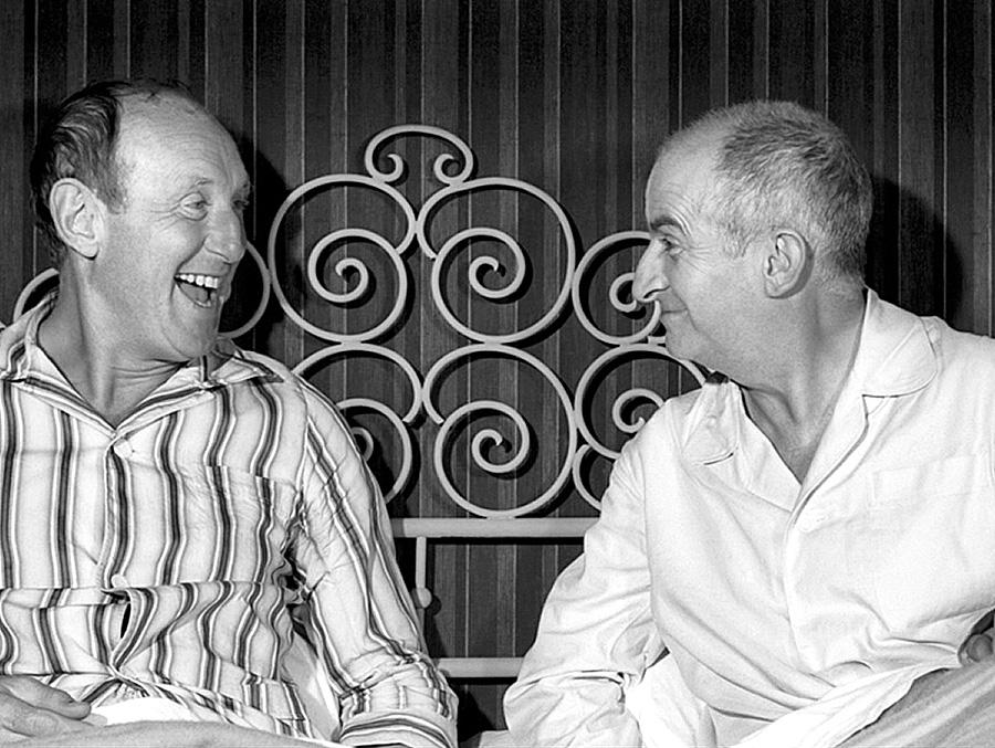 Bourvil et Louis de Funès dans La Grande vadrouille (Gérard Oury, 1966)