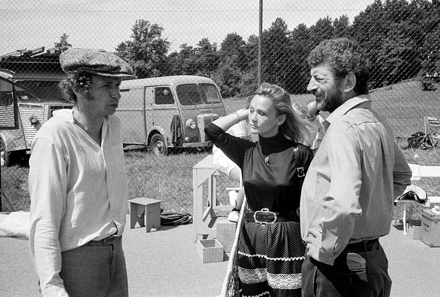 Pierre Richard, Danièle Delorme et Yves Robert sur le tournage du Distrait (1970) - © Georges Pierre