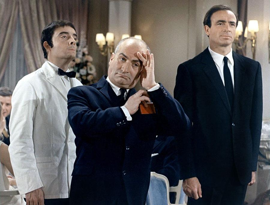 Michel Modo, Louis de Funès et Venantino Venantini dans Le Grand restaurant (Jacques Besnard, 1966)