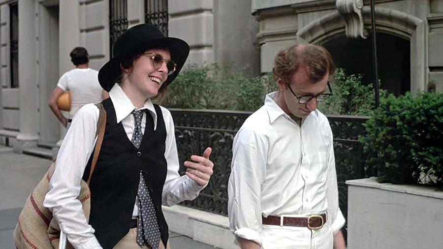 Avec Diane Keaton dans Annie Hall (Woody Allen, 1977)
