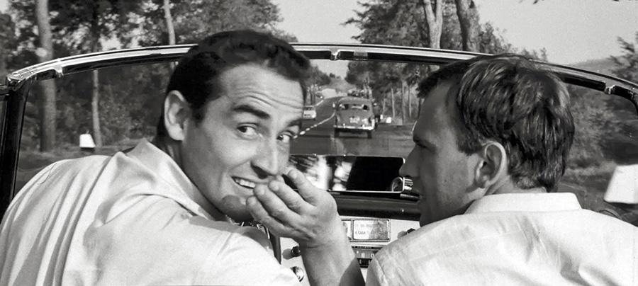 Vittorio Gassman et Jean-Louis Trintignant dans Le Fanfaron (Ettore Scola, 1962)