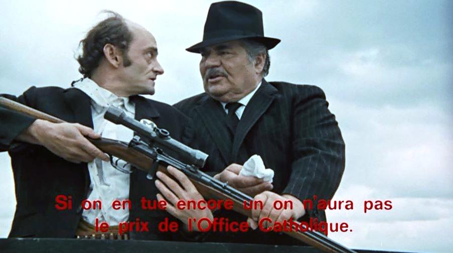 Sim et Folco Lulli dans Une veuve en or (Michel Audiard, 1969)