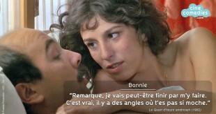 Réplique culte de Anémone à Gérard Jugnot dans Le Quart d'heure américain (Philippe Galland, 1982)