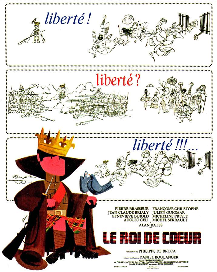 Le Roi de cœur (Philippe de Broca, 1966) - Affiche originale