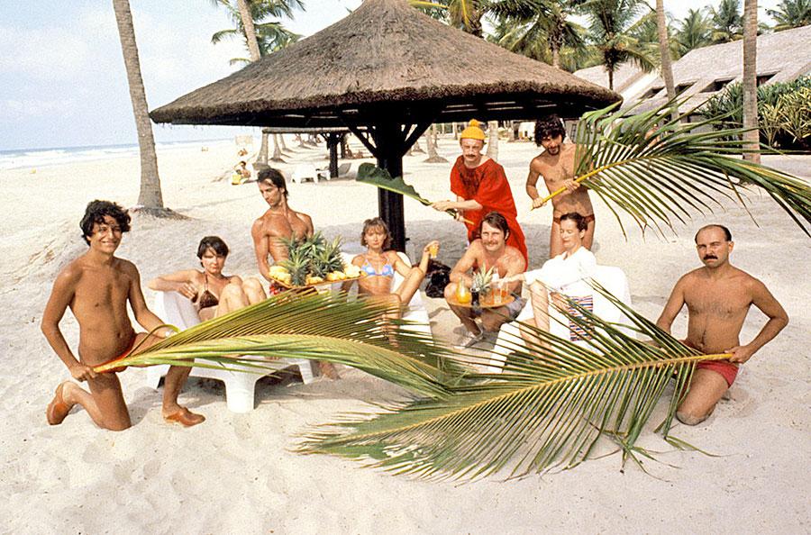 La troupe du Splendid dans Les Bronzés (Patrice Leconte, 1978) - Photo © Trinacra