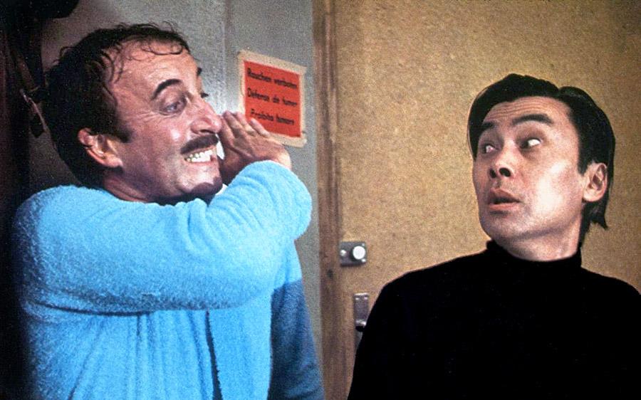 Peter Sellers et Burt Kwouk dans Le Retour de la Panthère rose (Blake Edwards, 1974)