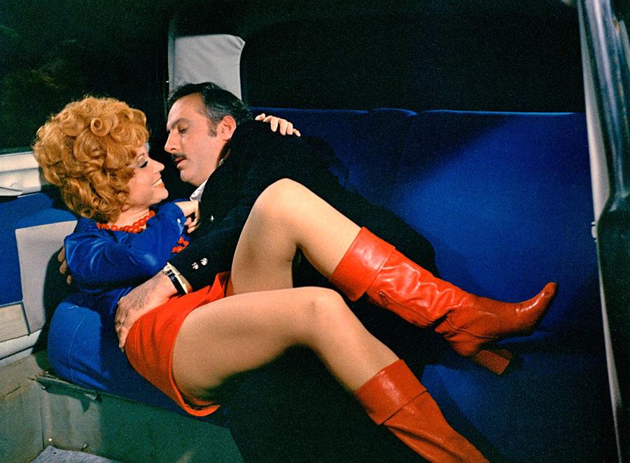 Marion Game et Michel Serrault dans Le Cri du cormoran le soir au-dessus des jonques (Michel Audiard, 1971)