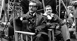 Blake Edwards et Peter Sellers sur le tournage de La Panthère rose (1963)