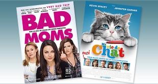Toutes les sorties Comédie du 3 août 2016 : Bad Moms, Ma vie de chat.