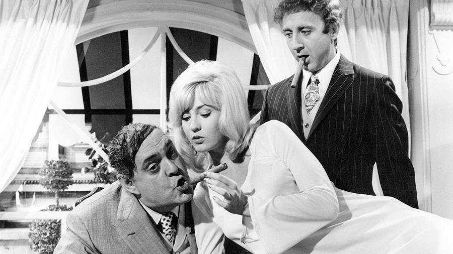 Zero Mostel, Lee Meredith et Gene Wilder dans Les Producteurs (Mel Brooks, 1967)