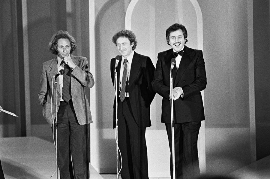 Pierre Richard, Gene Wilder et Victor Lanoux durant la Nuit des César 1978 - © Rindoff-Woestelandt-BestImage
