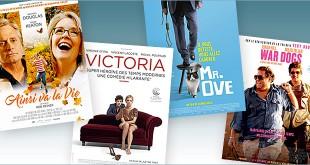Toutes les sorties Comédie du 14 septembre 2016 : Ainsi va la vie, Mr. Ove, Victoria, War Dogs.
