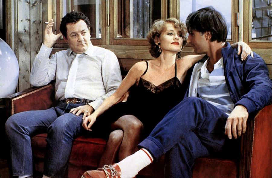 Coluche, Isabelle Huppert et Thierry Lhermitte dans La Femme de mon pote (Bertrand Blier, 1983)