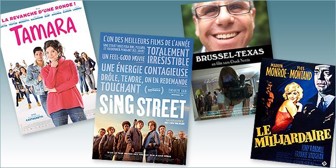 Toutes les sorties Comédie du 26 octobre 2016 : Sing Street, Tamara, Brussel-Texas, Le Milliardaire (reprise).