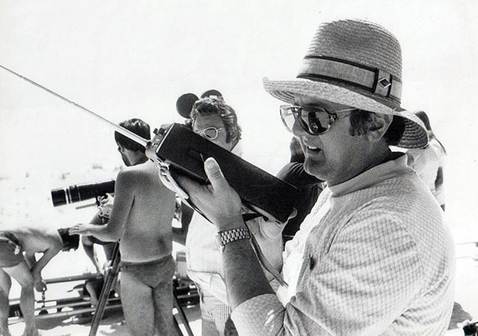 Tonino Valerii sur le tournage de Mon nom est personne (1973)