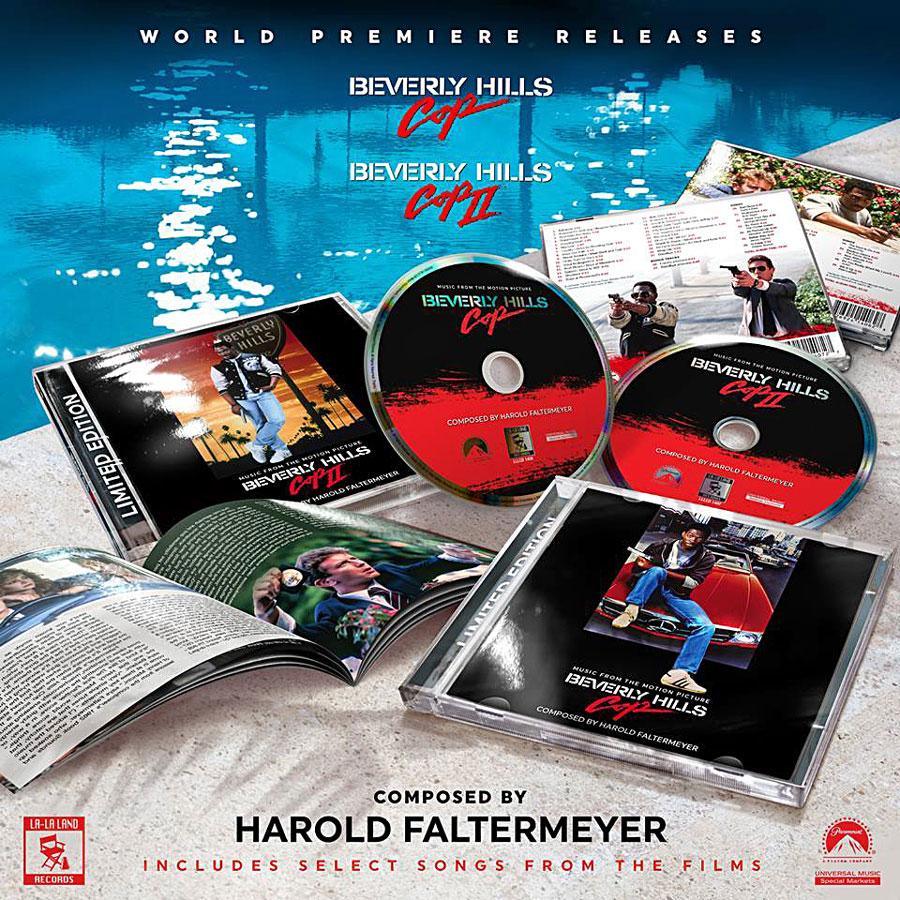 Le Flic de Beverly Hills I & II - Musique composée par Harold Faltermeyer (La-La Land Records)