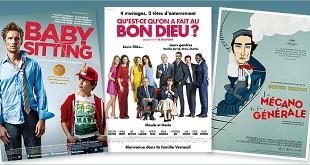 Toutes les sorties Comédie du 16 avril 2014 : Babysitting, Qu'est-ce qu'on a fait au Bon Dieu ?, Le Mécano de la General (reprise).