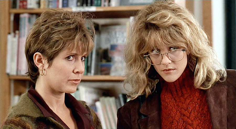 Carrie Fisher et Meg Ryan dans Quand Harry rencontre Sally… (Rob Reiner, 1989)