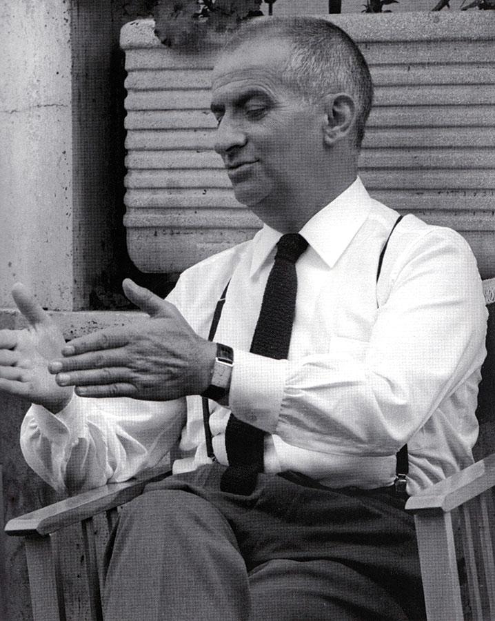 Louis de Funès sur le tournage du film de Gérard Oury Le Corniaud (1965)