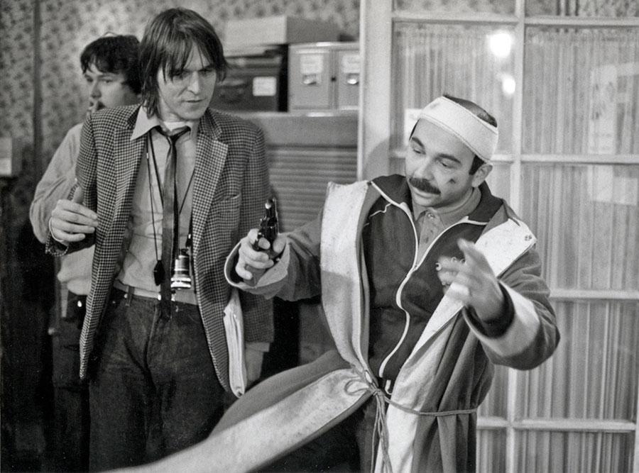 Jean-Marie Poiré et Gérard Jugnot sur le tournage du Père Noël est une ordure © photo collection privée de Jean-Marie Poiré